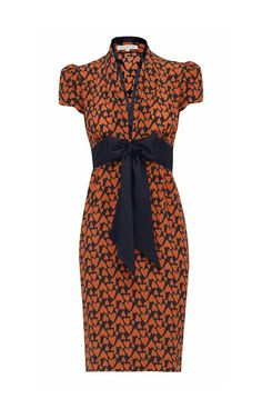 Super cute! 1940s-inspired silk tea dress from Suzannah Boutique