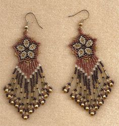 seed bead earrings | Beaded Jewelry Originals