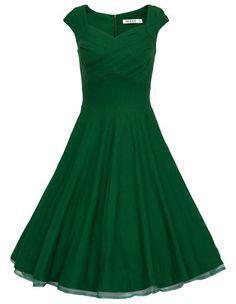 Retro Audrey Hepburn 50s Dress Women Vintage Solid Robe Party Dresses Summer Sleeveless Cocktail Plus Size S-XXL Vestidos D51119 #vintagedresses