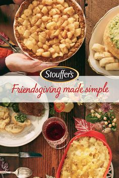 Great meals start with great ingredients. Stouffer's makes dinners worth remembering simple with Stouffer's Harvest Apples for your apple pie, and Stouffer's Macaroni & Cheese. Made with things you love for the people you love.
