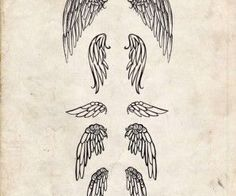 What do you think about this tattoo? Wing Tattoos On Back, Back Of Neck Tattoo, Tattoo Son, Get A Tattoo, Wings, Animals, Art, Pencil Drawings, Art Background
