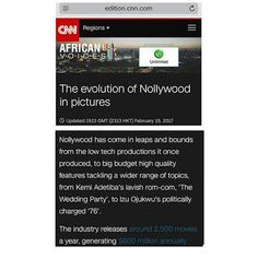 Welcome to Zeal live Blog: Celebrating Inspiring, Successful Journeys.: CNN on the Evolution of Nollywood Featuring Cinema...