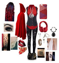 """""""Little red riding hood grow up"""" by crmsonred13 ❤ liked on Polyvore featuring LE3NO, Giuseppe Zanotti, Marc Jacobs, Beats by Dr. Dre, Lauren Wolf and Givenchy"""
