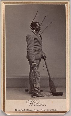 'Wilson, Branded Slave from New Orleans' 1863