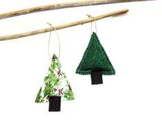 Organic pine sachet ornaments set of two gift #ornamnet #gift #sachet #Christmas by NancyEllenStudios