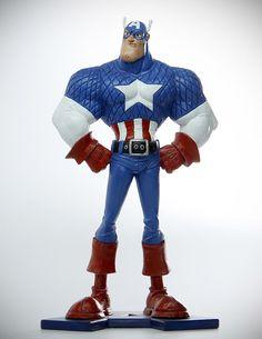 Captain America Animated Style, Henning Doose on ArtStation at https://artstation.com/artwork/captain-america-a6d9efc7-2f76-4ed1-aedb-0a4bb792e42f