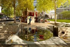 Buluk Park at Victoria Harbour- Melbourne,Australia- ASPECT Studios Victoria Harbour, Melbourne Australia, Urban Landscape, Water Features, Canopy, Playground, Studios, Landscape Architects, River