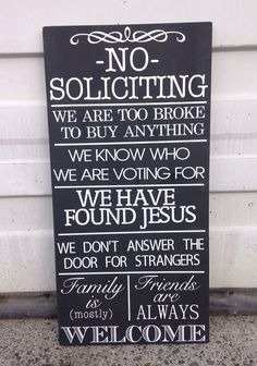 No Soliciting Wooden Sign Shabby Chic 12 x by ChevronChicBoutique, $55.00 Chalkboard Quotes, Art Quotes, Wooden Signs, Shabby Chic, Living Room, Ideas, Wooden Plaques, Shabby Cottage, Living Rooms