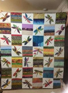 The Dragonfly Quilt Scrappy Quilt Patterns, Quilt Square Patterns, Batik Quilts, Scrappy Quilts, Applique Quilts, Square Quilt, Pattern Blocks, Quilt Blocks, Kid Quilts
