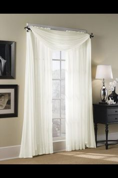 Bedroom Curtains and Drapes Unique Bedroom Curtains Hampton Sheer Voile Scarf Valance Scarf Curtains, Voile Curtains, Panel Curtains, Bedroom Curtains, Curtain Panels, Window Scarf, Long Curtains, Cheap Curtains, Rideaux Design
