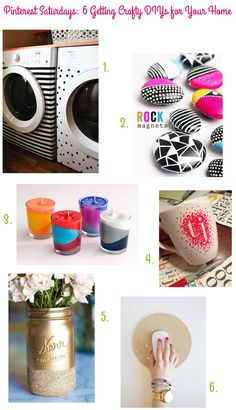 Pinterest Saturdays: 6 Getting Crafty DIYs for Your Home on Style for a Happy Home