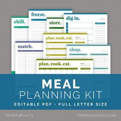 10 Great Printables for Household Planning: Meals, Cleaning & Organizing