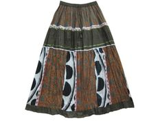 Summer Peasant Skirt Boho Gypsy Brown Print Crinkle Long Skirts Mogulinterior mogulinterior,http://www.amazon.com/dp/B00E5VXPI4/ref=cm_sw_r_pi_dp_2oZ8rb14WFBBCFA5