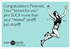 "Congratulations Your ""picked for you"" pins SUCK more than your ""related"" pins! Just stop! Losing Weight Tips, Lose Weight, Workout Humor, Workout Fitness, Cry For Help, Just Stop, Weight Loss For Women, Health Fitness, Fitness Humor"