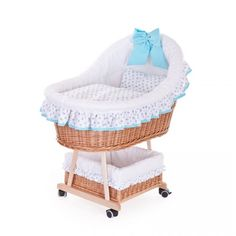 Wiklinowy Kosz do Spania dla Niemowląt Bassinet, Bed, Room, Furniture, Home Decor, Bedroom, Crib, Decoration Home, Stream Bed