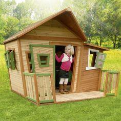 Kids Outdoor Playhouse Garden Play Backyard Wood Activity Lodge Cabin Decoration #KidsOutdoorPlayhouse