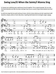 Fun to do with my choir!! Choir | Chorus ? Partner songs  |   ♫ CLICK to preview or RE-PIN for later!   ♫