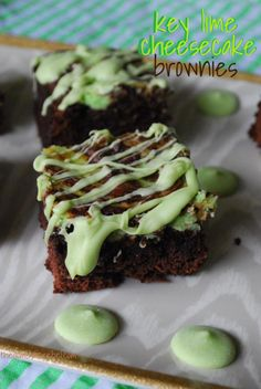 Key Lime Cheesecake Brownies - for Nick's bday in a few months. :D