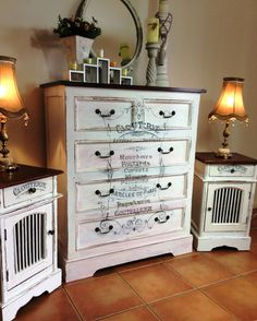 Shabby Chic Dresser And Matching Bedside Table Set U2013 Reader Feature