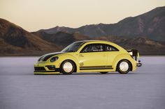 Volkswagen Beetle LSR with a 600 HP motor with 500 lb-ft of torque did 208 mph down the Bonneville Salt Flats  in 2016. The Volkswagen Beetle is an icon. It's been around for decades and it's a beloved automobile the world over. It is not, however, a fast car by any means. Sure, there have been quick versions made, and some aftermarket companies have wrung out plenty of extra horsepower but the car was never a speed...