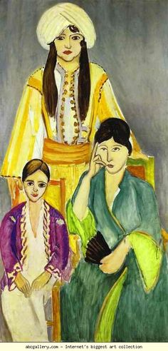 Henri Matisse. Three Sisters. 1917. Triptych. Left part. Oil on canvas. Barnes Foundation, Lincoln University, Merion, PA, USA. Olga's Gallery.