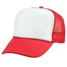 954f5e0e8d1 DALIX - DALIX Youth Mesh Trucker Cap Adjustable Hat in Red White -  Walmart.com