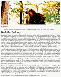 Boromir was a stand up guy - Imgur... Not sure the category for this one... ignore the cursing but yes, JRR Tolkien beautifully created his characters. <3 Boromir