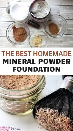 Homemade mineral makeup recipes, like this foundation, are a great way to save money, get the perfect shade, & avoid harsh ingredients. Best Beauty Tips, Natural Beauty Tips, Diy Beauty, Beauty Hacks, Beauty Solutions, Homemade Beauty Recipes, Homemade Beauty Products, Homemade Gifts, Diy Gifts For Him