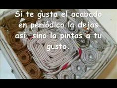 como hacer un cesta con papel de periodico.(how to make a paper basket w...