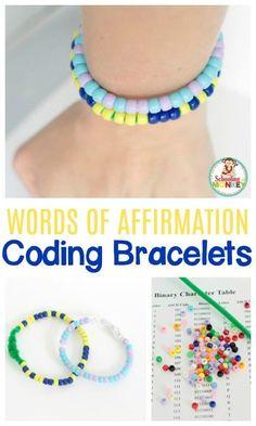 Words of Affirmation Secret Message Coding Bracelets