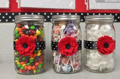 cute classroom treat jars - I like this idea for teaching estimation.