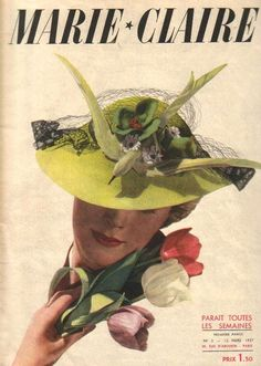 Marie Claire Cover with some gorgeous #hats