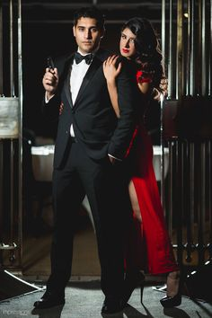 Davinder & Harsee – James Bond Themed Engagement Shoot, Toronto