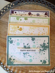 Stampin Up, Geburtstags Karte, Birthday Card, Männer Karte, Man Card, Gorgeous Grunge, Perpetual Birthday Calender, von der ganzen Rasselbande