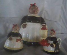 Mammy Aunt Jemima Porcelain Pottery Cookie Jar with Creamer and Sugar Bowl Set | eBay