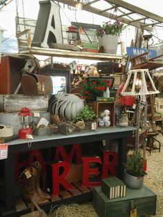 Great Vignette in our booth at Warrenton Antique Show Spring 2015..