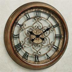 Norton Wall Clock Antique Bronze