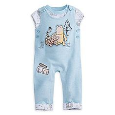 Winnie the Pooh Layette Knit Dungaree Set for Baby   Disney Store Two is better than one, just ask Pooh and Tigger! Celebrate the bestest friendship in the Hundred Acre Wood with this cozy dungaree set. The Disney Cuddly Bodysuit and dungarees are covered in embroidered details for endless silly snuggles!