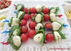 Everyone loves a caprese salad but when you want to serve it as an appetizer it can be a little messy. Imagine holding a glass of wine, a small plate with the normal caprese salad, a knife and fork and, well, you get the picture. Here is a novel way to serve the salad in bite size form and it looks great on the serving dish too! Caprese Salad on a Stick Ingredients: Cherry Tomatoes Fresh Mozzarella Balls (use Buffalo mozzarella for GMO-free option) Large Basil Leaves Olive Oil & Balsamic…