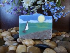 Making Sand and Sea soap by Eve's Garden