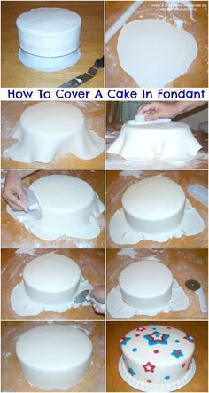 How To Cover A Cake With Fondant (Tutorial) - Zuckerkunst - Tipps und Tricks - Kuchen Cake Decorating For Beginners, Cake Decorating Techniques, Cake Decorating Tutorials, Cookie Decorating, Decorating Ideas, Decorating Cakes, Cake Decorating With Fondant, Simple Cake Decorating, Decorating Supplies