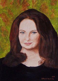 painting portrait - Galeria obrazów Felicji Kozielskiej Mona Lisa, Artist, Artwork, Painting, Work Of Art, Auguste Rodin Artwork, Painting Art, Artworks, Paintings