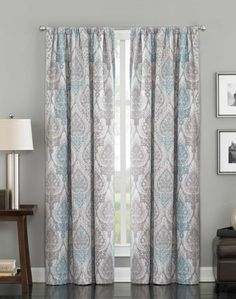 Decorating a home with damask curtains adds a touch of luxury with a clean, modern twist.