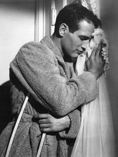 Paul Newman in a production still from Cat on a Hot Tin Roof (Richard Brooks, Robert Redford, Vintage Hollywood, Classic Hollywood, Hollywood Men, Paul Newman Joanne Woodward, Cool Hand Luke, Tennessee Williams, Star Wars, Raining Men