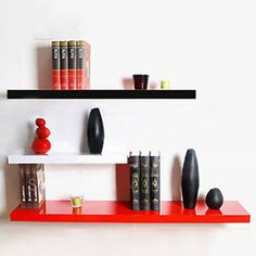 One High Gloss Floating Wall Display Shelf White Black Red Wholeprice 30 100 Ebay
