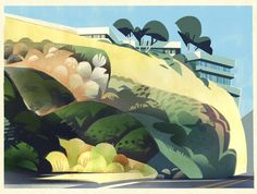 A painting I did this morning. We went to Malibu yesterday and it was toooo pretty.