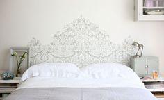 Ótima ideia para a cabeceira da cama!