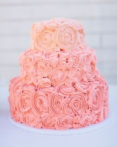 Gorgeous Ombre Wedding Cake