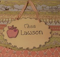 Wooden Personalised name plaque £6.75