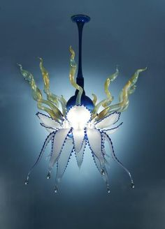Bloo Hand Blown Glass Chandelier  Price:  4,359.99 dolars